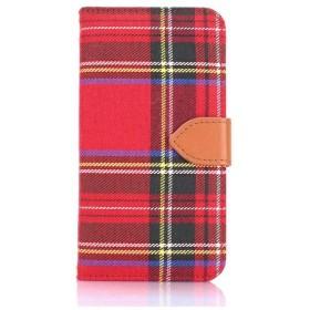 iPhone 7用 手帳型 Diary Check レッド Fantastick I7N06-16B759-06
