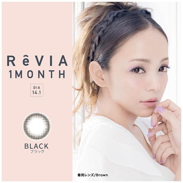 レヴィアワンマンス サークル ブラック(BC8.6 / PWR-6.00 / DIA14.1)(1枚入)[ReVIA/1month/カラコン]