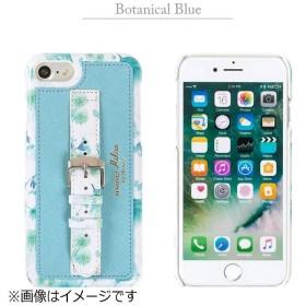 iPhone 7用 trouver Milieu ベルト付きハードケース ボタニカルブルー