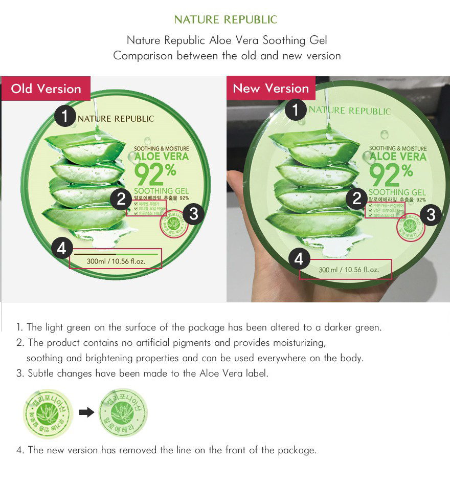 Buy Nature Republic Aloe Vera 92 Soothing Gel Deals For Only Rp150 160ml 300 Ml Jar