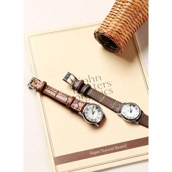 カウレザーベルトサークルフレーム腕時計・全4色・n45971