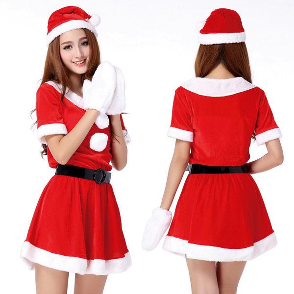聖誕禮品61 聖誕派對 裝飾 聖誕服裝 派對 演出服裝 (二件套)