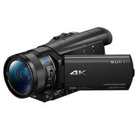 展示機出清 SONY FDR-AX100 4K高畫質記憶卡式攝影機(公司貨) ★ 贈長效電池(共兩顆)+座充+拭鏡筆+吹球清潔組