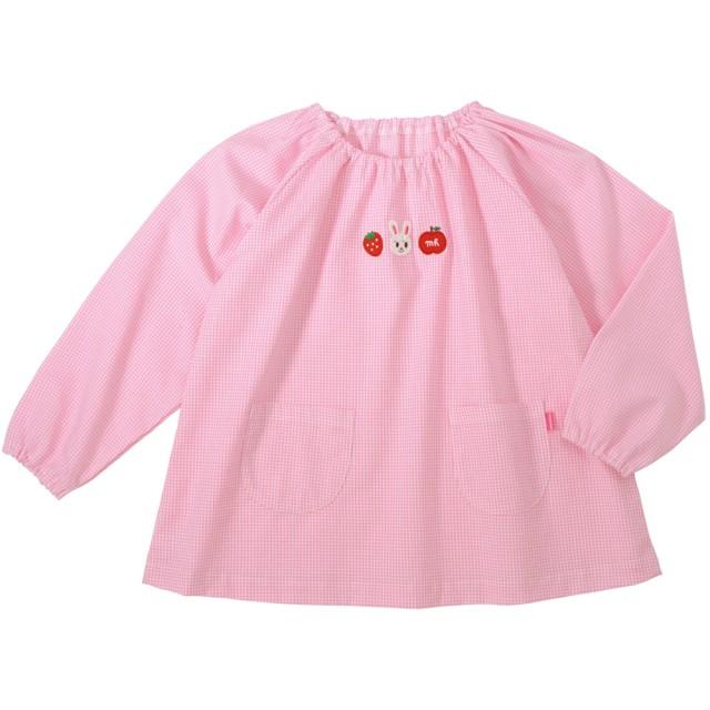 ミキハウス ドライブプッチー&フルーツうさこ スモック ピンク