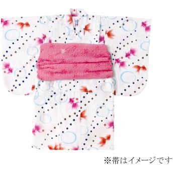 ミキハウス きんぎょ柄浴衣(女児用) 白