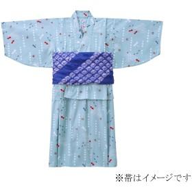 ミキハウス 金魚&トンボ和柄の浴衣(男児用) ブルー