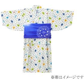 ミキハウス クワガタ&とんぼ柄浴衣(男児用) 白