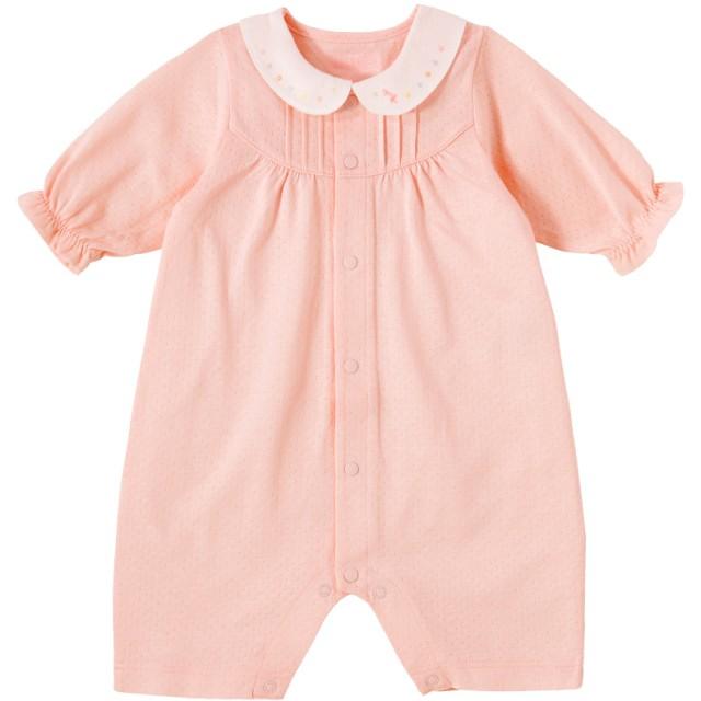 ミキハウス 衿つきプレオール ピンク