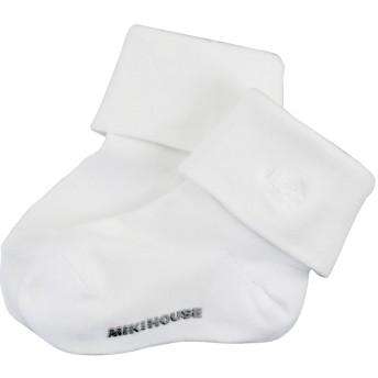 ミキハウス 【面接】二つ折りソックス 白
