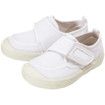 ミキハウス スクールシューズ〈(上履き・上靴)15cm-17.5cm〉 白