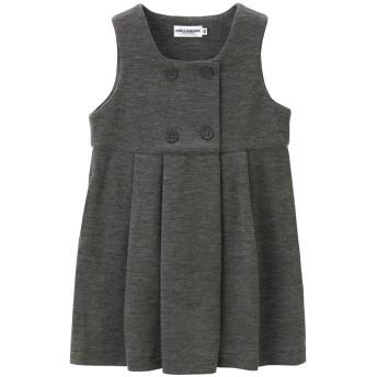 ミキハウス 【面接】ポンチジャージ素材のジャンパースカート グレー