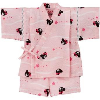 ミキハウス 星&貝殻柄甚平スーツ ピンク
