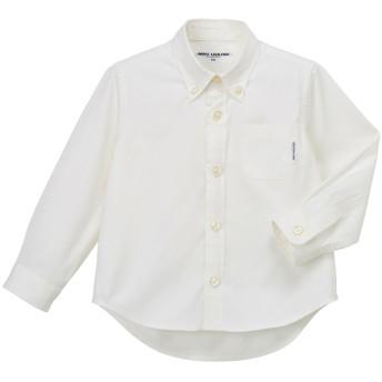 ミキハウス オックスシャツ(ボタンダウンカラー) 白