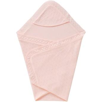 ミキハウス 透かし編みレースのアフガン(おくるみ) ピンク