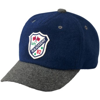 ミキハウス ウール素材のワッペン付きキャップ(帽子) ブルー