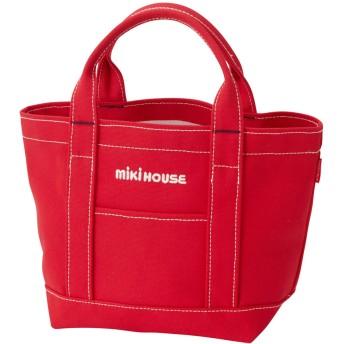 ミキハウス ロゴトートバッグ 赤