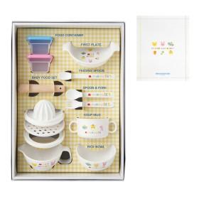 ミキハウス ■離乳食に便利なテーブルウェアセット(食器セット)【白】
