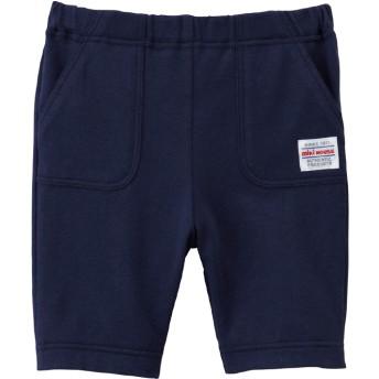 ミキハウス 前ポケット付き 7分丈パンツ 紺