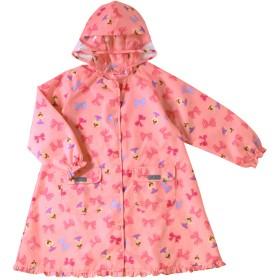 ミキハウス リボンいっぱい リーナちゃんレインコート ピンク