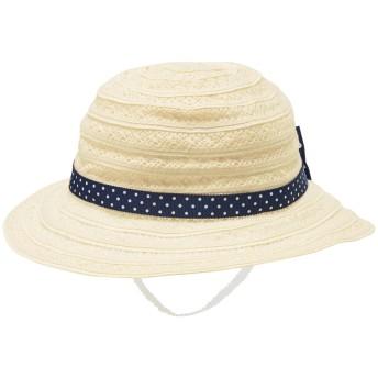 ミキハウス 綿レース サマーハット(帽子) アイボリー