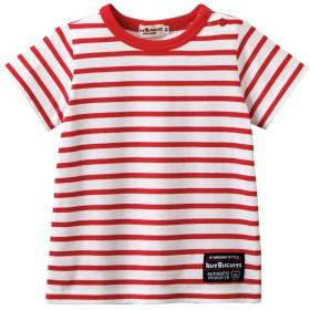 ミキハウス 【アウトレット】ボーダー半袖Tシャツ 赤