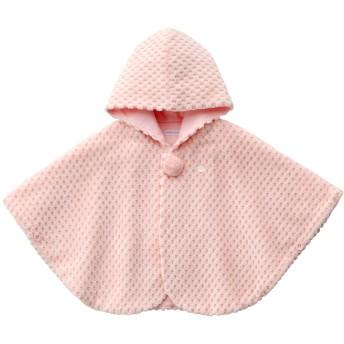 ミキハウス ビーンズコール素材の豪華マント ピンク