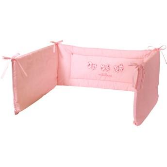 ミキハウス ■リボン小花柄♪ベッドガード ピンク
