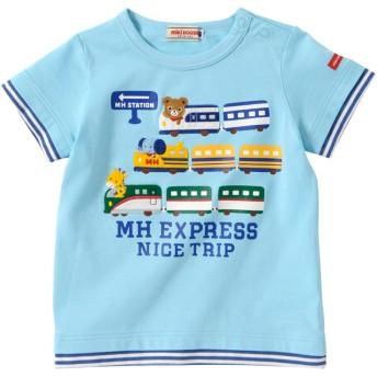 ミキハウス MHエクスプレス 重ね着風半袖Tシャツ ブルー