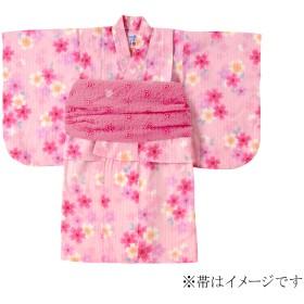 ミキハウス さくらしぐれ柄浴衣(女児用) ピンク