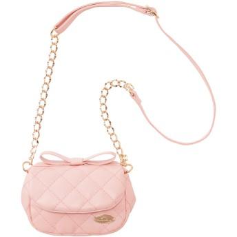 ミキハウス リボン付きキルティングショルダーバッグ ピンク