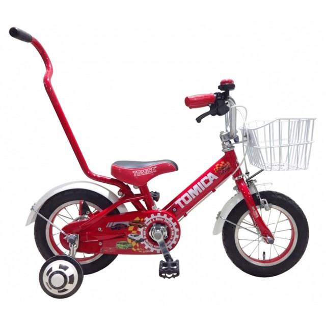 トイザらス限定 12インチ 子供用自転車 TOMICA アシストバー(レッド)