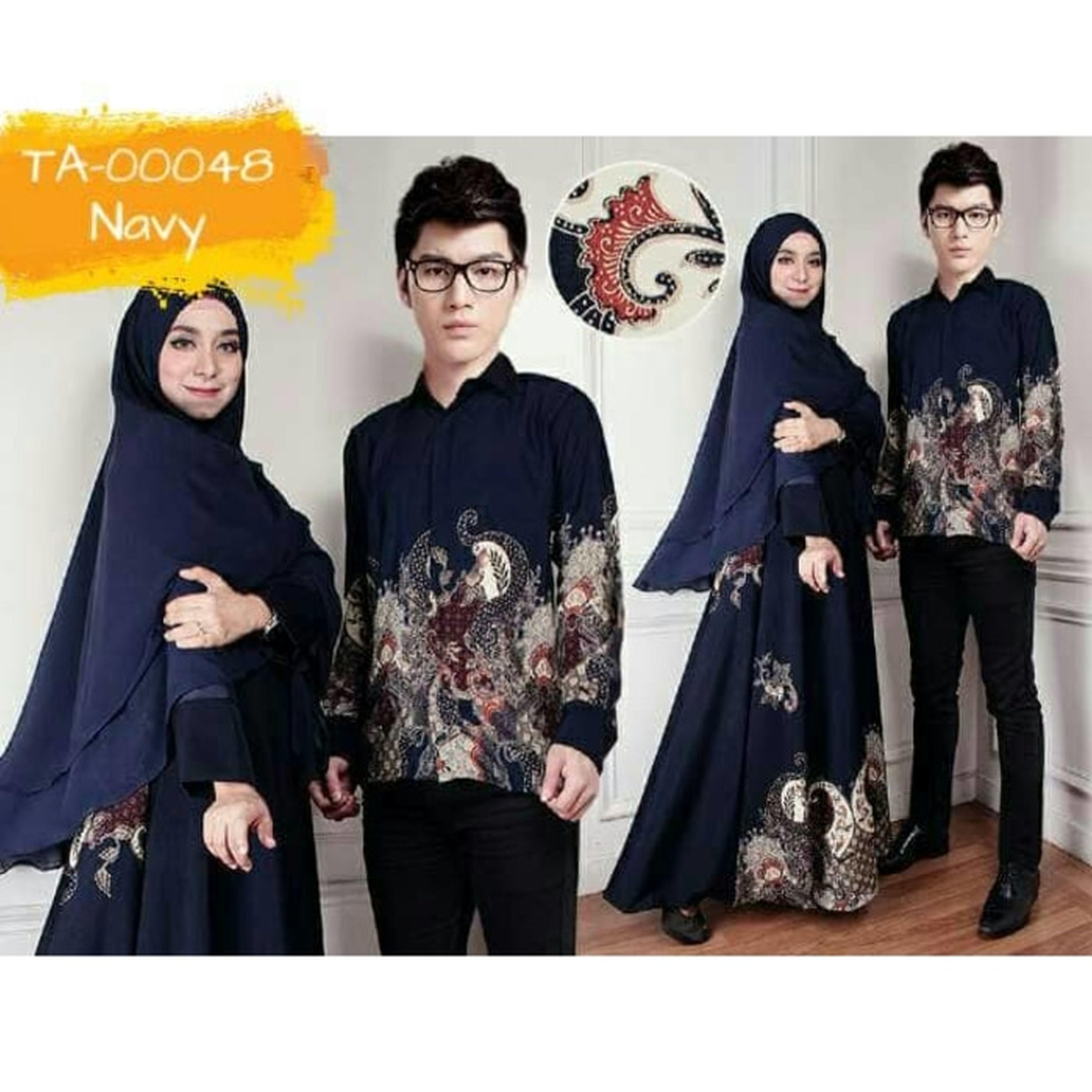 TA B couple katrina NAVY baju pasangan sarimbit batik pestA
