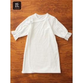 【ANGELIEBE/エンジェリーベ】【日本製】退院ドレス オフホワイト 50~60