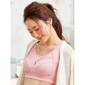 【ANGELIEBE/エンジェリーベ】ママのためのノンストレス【授乳対応】おやすみブラ ピンク M