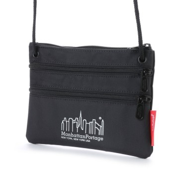マンハッタンポーテージ Manhattan Portage Triple Zipper Pouch (Black)