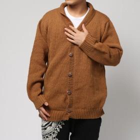 【チャイハネ】ネパールウール刺繍入りMEN'Sジャケット ベージュ