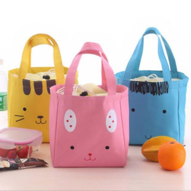 tas kanvas hewan lucu / cute animal cotton canvas lunch bag BTA013: Rp 28.000