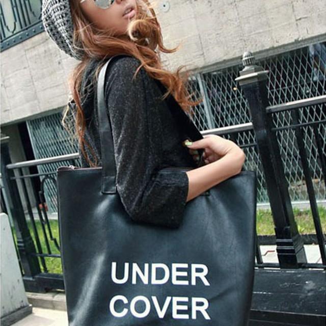 Tas besar kulit hitam under cover / big black leather bag BTA006: Rp 60.000. Tas kecil korea ...