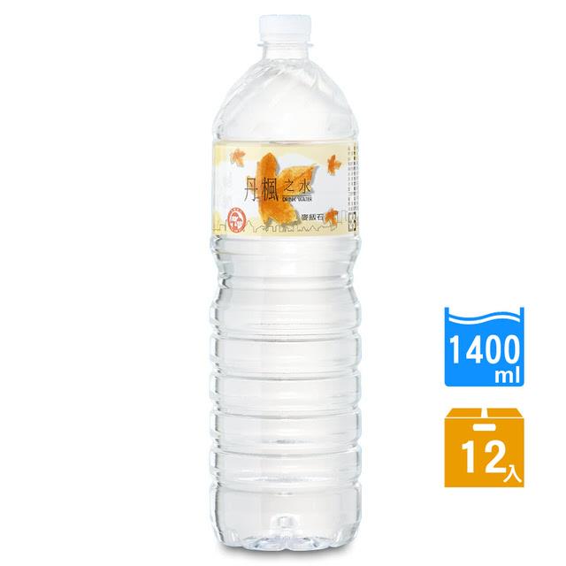 免運 【DRINK WATER丹楓之水】麥飯石礦泉水1400ml(12瓶/箱)