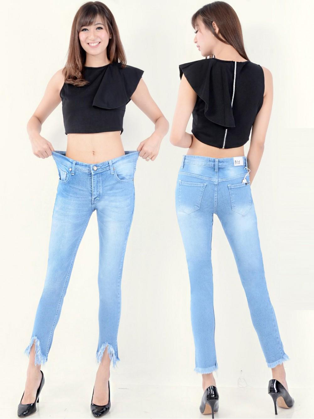 Celana Jeans Bigsize Ripped Jumbo Den55287