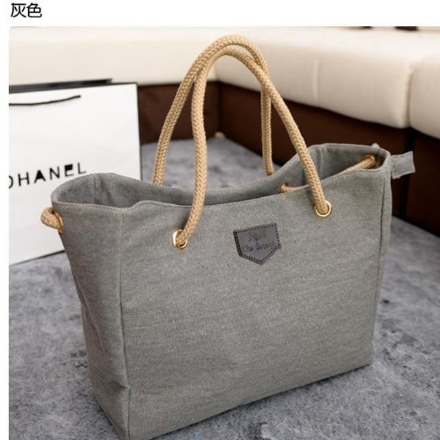 tas canvas tali handbag canvas Korean style fashion bta097: Rp 67.700