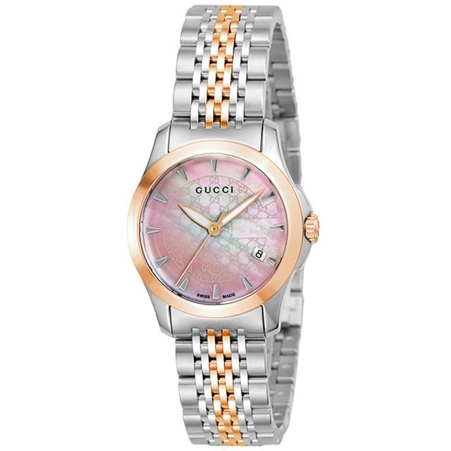 ッチ GUCCI Gタイムレス YA126536 腕時計 レディース 送料無料 ピンクパール