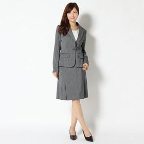【ピュアラスト】キャリア3点スーツ (レディース) グレーストライプ