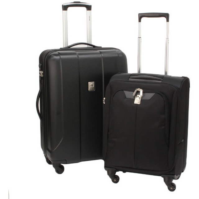 SALE 【DELSEY(デルセー)】スーツケース2点セット(ジッパースーツケース&ソフトスーツケース)