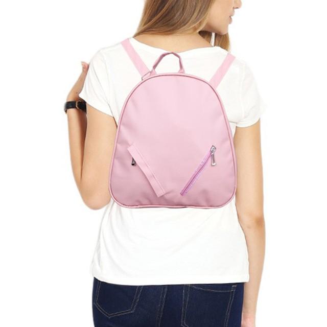 tas punggung cewek backpack wanita polos pink double resleting bta235: Rp 57.700