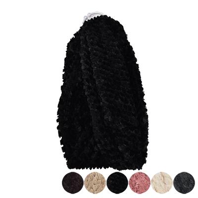 日本圍脖-超軟Q毛素色圍巾-6色-玄衣美舖