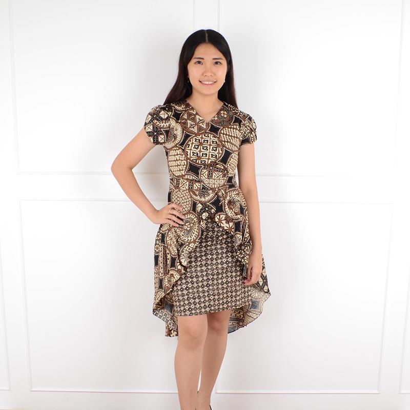 De Voile Dress Batik Wanita Beleza wdpp ds (Black) 20210f25de