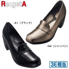 Re:getA レディース ハイヒール ローファー R-1590