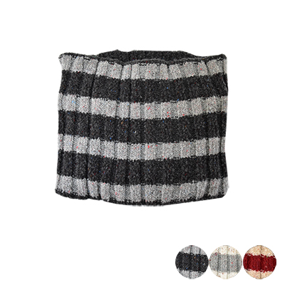 日本圍脖-條紋高領保暖物-3色-玄衣美舖