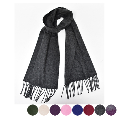 日本圍巾-簡約素面窄版圍巾-三色-玄衣美舖